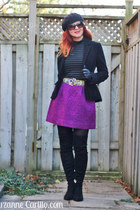 magenta magenta Anthropologie skirt - black Zara boots