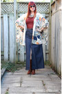 Eggshell-kimono-anthropologie-jacket-navy-maxi-denim-thrifted-skirt