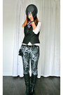 Heather-gray-floral-print-mavi-jeans-jeans-charcoal-gray-hurley-hat
