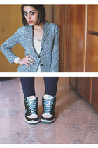 nike shoes - united colors of benetton jacket - H&M accessories