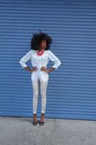 light blue Azul by Moussy shirt - silver Mathiasen pants