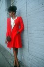 Cream-arden-b-dress-red-silk-vintage-emporio-armani-jacket-black-vintage-bag