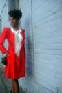 Cream-arden-b-dress-red-silk-vintage-emporio-armani-jacket-black-vintage-bag