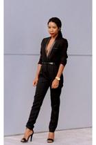 black Forever 21 blazer - GoJane heels