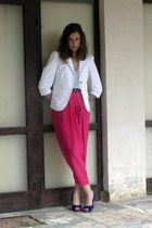 navy From Poland shoes - white Orsay blazer - periwinkle F&F top - hot pink unkn