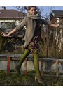 Olive-green-gate-shoes-olive-green-next-dress-camel-zara-coat