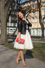 Black-primark-jacket-red-unknown-bag-ivory-diy-skirt-tawny-vintage-flats