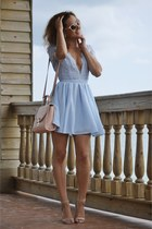 light pink F&F bag - periwinkle Missguided dress - light pink H&M sunglasses