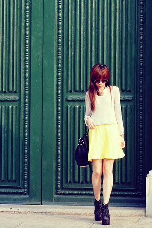 VANCL blouse - Jeffrey Campbell boots - Alexander Wang bag - H&amp;M skirt