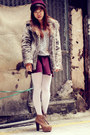 American-apparel-sweater-jeffrey-campbell-boots-forever-21-coat-chanel-bag