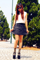 VANCL bag - Jeffrey Campbell wedges - Bershka skirt