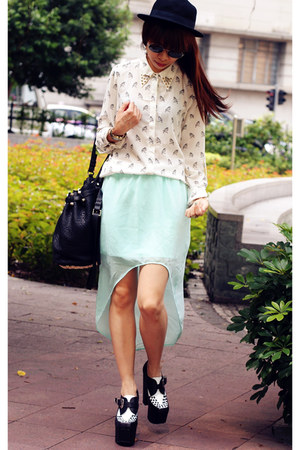 Zara skirt - Jeffrey Campbell shoes - Zara shirt - Alexander Wang bag