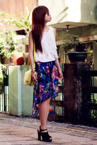 Forever 21 skirt - Aldo bag - Zara top - asos sandals
