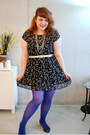 Black-mela-loves-london-dress-blue-blue-h-m-tights-black-vintage-sandals