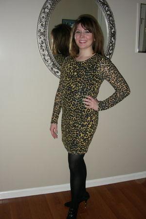 gold Rodarte for Target dress - black DKNY tights - black Nine West shoes