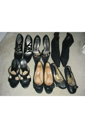 black Nine West shoes - Nina shoes - black shoes - black Michael Michael Kors sh
