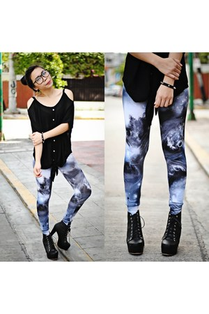 sky blue galaxy market market leggings