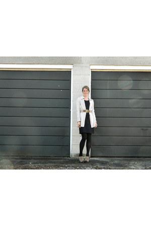 Gap dress - Armani Exchange sweater - Guess heels - thrifted belt