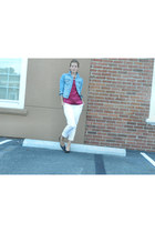 H&M jacket - banana republic shirt - banana republic pants - Target necklace