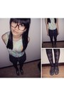 Topshop-shorts-from-jakarta-top-fishnet-from-taiwan-stockings-diy-studded-