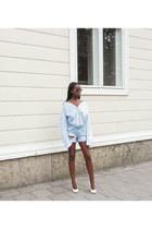 sky blue denim shorts shorts