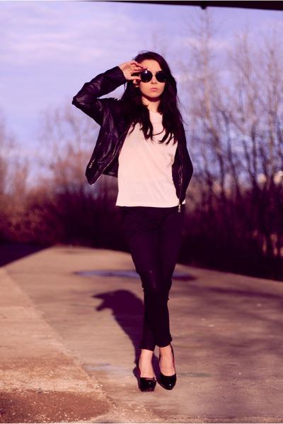 light pink Front Row Shop shirt - black Front Row Shop pants