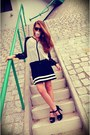 Black-misbhv-dress-black-pimkie-sunglasses-black-zara-heels