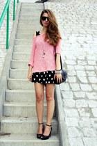 black OASAP bag - bubble gum Cubus sweater - black Melissa wedges