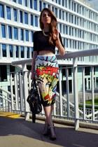 Siren London skirt - black H&M shoes - black Pimkie bag - black no name top