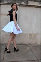 white no name skirt - black Sinsay vest - black Zara heels