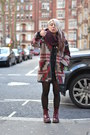 Brick-red-shoes-maroon-jacket-black-tights-crimson-scarf