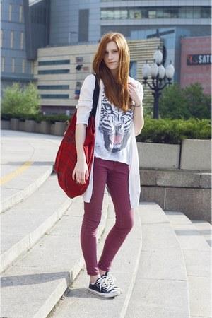 maroon Bershka pants