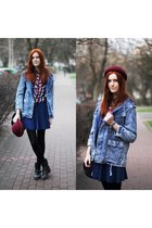 denim romwe coat