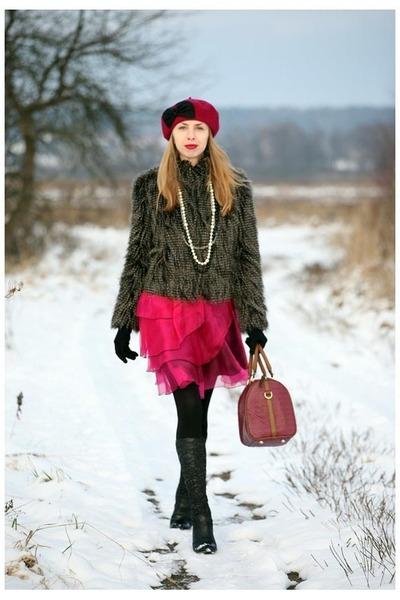 Solar hat - Quazi boots - Rinascimento dress - F&F jacket - Parfois bag