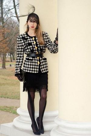 H&M dress - Bundle Maclaren hat - escada jacket
