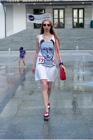 Jeffrey Campbell shoes - Castelbajac dress - Slapwatch watch