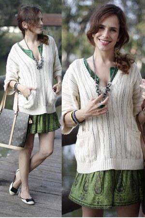 Mango dress - Mango sweater - Louis Vuitton bag - MAX MORETTI flats - Accessoriz