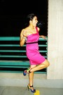 Pink-forever21-dress-gold-bakers-shoes