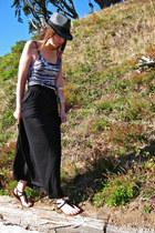 gray Target hat - H&M skirt - Target top - Aldo sandals
