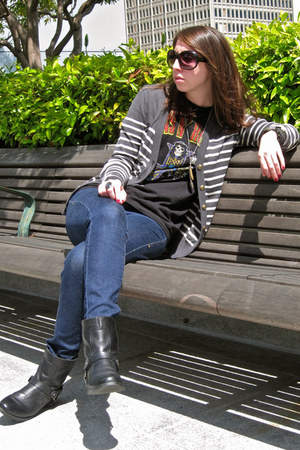 Nine West boots - Zara Trf jeans - Urban Outfitters sweater - Target t-shirt