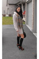 dark brown texto shoes - peach H&M dress - brown Original Oxford scarf - black c
