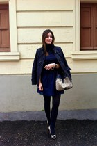 Burberry jacket - BLANCO dress - Carolina Herrera bag - Massimo Dutti jumper