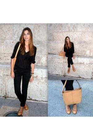 BLANCO jeans - Zara shirt - lamarthe bag - el rayo ballerinas flats