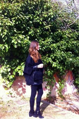 Zara boots - Mango coat - Zara leggings - Zara shirt - banarassi cape