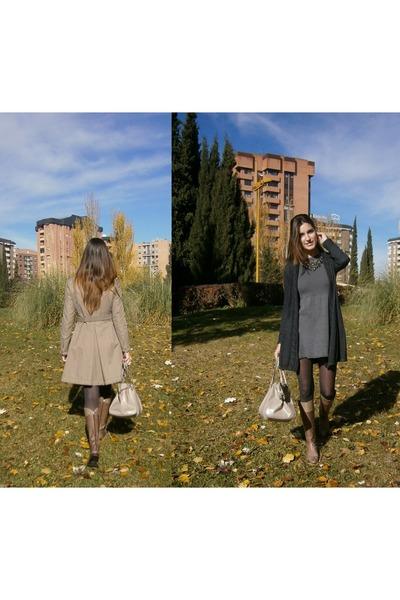 Zara dress - Purificacion Garcia coat - Bimba y Lola bag - Zara cardigan
