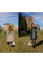 Zara dress - Purificacion Garcia coat - Bimba y Lola bag - Zara cardigan
