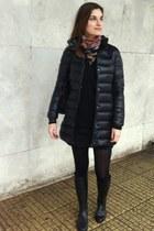 Pierre Balmain scarf - Mango coat - Zara cardigan - Mango skirt