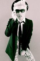 black H&M coat