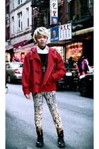 red vintage jacket