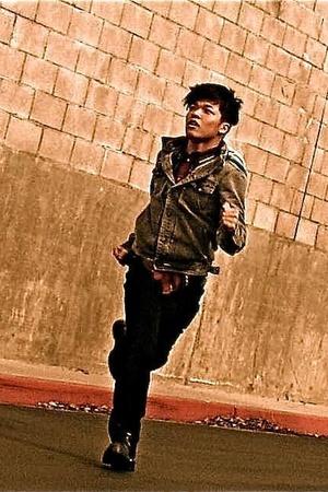 Metro Park jacket - Jimmyz shirt - versace pants - versace shoes